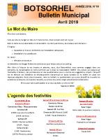 Bulletin 16 – Avril 2019