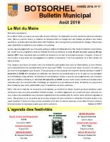 Bulletin 17 – Août 2019