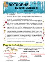 Bulletin 18 – décembre 2019