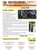 Bulletin Le Botsorhelois 1 – juillet 2020