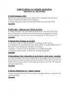 Compte rendu du conseil municipal du 28 12 2020